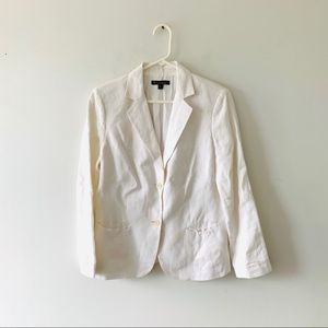 Brooks Brothers White Linen Casual Blazer Jacket